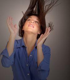 Flipping Hair Royalty Free Stock Photo