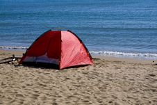 Free Tent By Sea Royalty Free Stock Photo - 6652105