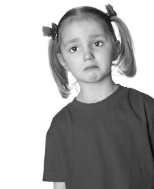 Free Little Girl Making Faces Royalty Free Stock Photography - 6652317