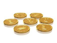 Free Golden Coins Royalty Free Stock Photos - 6652318