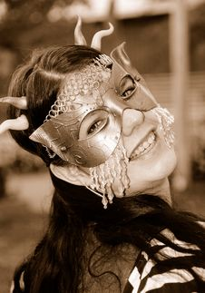 Free Ornate Mask Costume Royalty Free Stock Photography - 6652707