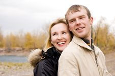 Free Happy Young Couple Outdoor Stock Photography - 6652982