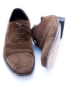 Free Used Brown Suede Shoes Stock Photography - 6654312