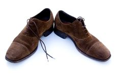 Free Used Brown Suede Shoes Royalty Free Stock Photography - 6654427
