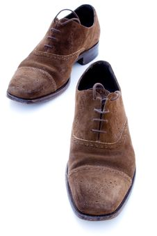 Free Used Brown Suede Shoes Royalty Free Stock Photos - 6654448