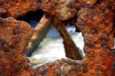 Rusty Shipwreck Hole - 2 Stock Images