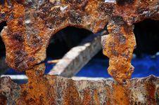 Rusty Shipwreck Hole - 1 Stock Photo