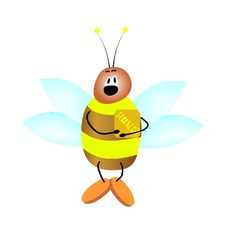 Free Bee Royalty Free Stock Photography - 6654957