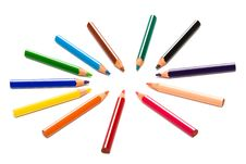 Free Beautiful Color Pencils Royalty Free Stock Image - 6655196