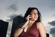 Free Woman On The Phone Stock Photography - 6655422