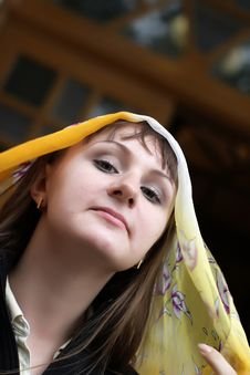 Free Girl In Yellow Kerchief Royalty Free Stock Photography - 6655537