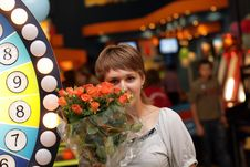 Free Girl With Flowers Stock Photo - 6655540