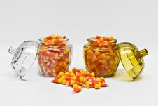 Candy Corn In Jar Royalty Free Stock Photo