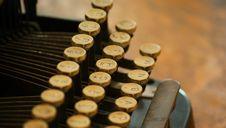 Free Closeup Of Old Typewriter Keys Royalty Free Stock Photo - 6657865