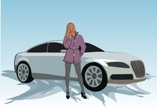 Free Car_women Royalty Free Stock Photos - 6659158