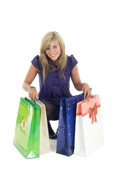 Free Pretty Blonde And Bags Stock Photography - 6659282