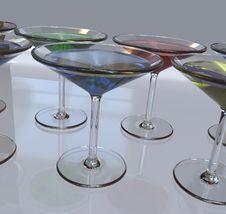 Free Martini Glasses Royalty Free Stock Image - 6659376