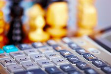 Free Calculator & Chess Royalty Free Stock Photography - 6659487