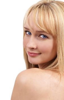 Free Portrait Of Beautiful Blonde Woman Stock Images - 6659824