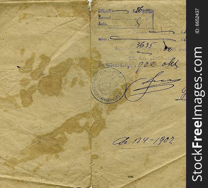 Letter detail