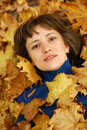 Free Girl And Autumn Leaves Stock Photos - 6664173
