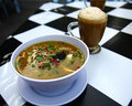 Free Asian Noodle Soup With Milk Tea Royalty Free Stock Photo - 6667195