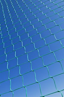 Free Green Nylon Net Against The Sky Stock Photo - 6660020