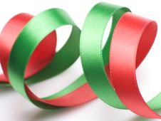 Free Red And Green Ribbon Royalty Free Stock Photos - 6660258