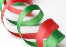 Free Red And Green Ribbon On White Royalty Free Stock Image - 6660366