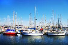 Yachts On Sunny Bay Royalty Free Stock Photo