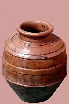 Free Handmade Pot From Clay Stock Photography - 6660582