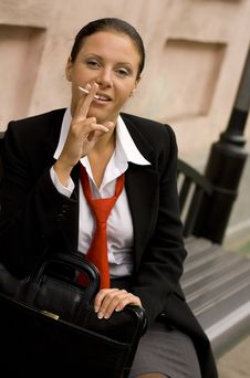 Free Businesswoman With Sigarette Royalty Free Stock Photo - 6661435