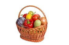 Free Fresh Vegetables In A Basket. Royalty Free Stock Photos - 6662298