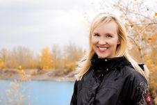 Free Beautiful Blond Woman Near The Lake Royalty Free Stock Image - 6663246