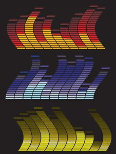 Abstract Digital Equalizer Royalty Free Stock Photo