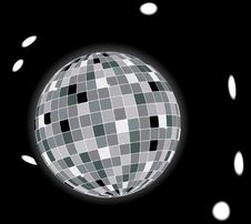 Free Glowing Disco Ball Stock Image - 6664811