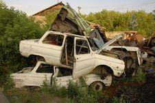 Free Old Cars In Junkyard Stock Photos - 6665303