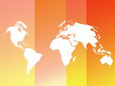 Free World Map Outline Background Royalty Free Stock Image - 6665366