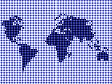 Free World Map Outline Background Royalty Free Stock Photo - 6665615