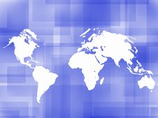 Free World Map Outline Background Royalty Free Stock Image - 6665686