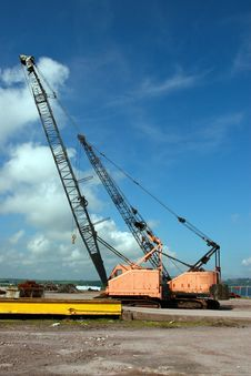 Free Dock Crane Royalty Free Stock Image - 6665756
