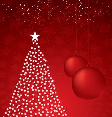Free Christmas Tree Design. Vector-Illustration. Royalty Free Stock Photo - 6665765