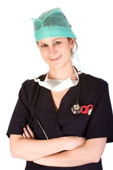 Young Female Healthcare Professional Royalty Free Stock Images
