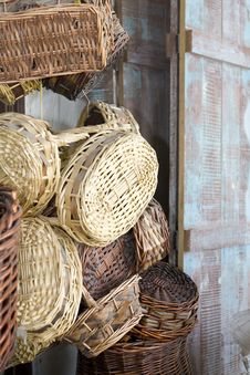 Free Selection Of Woven Baskets Stock Photography - 6666612
