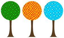 Free Summer/spring, Autumn And Winter Trees Royalty Free Stock Photography - 6666777