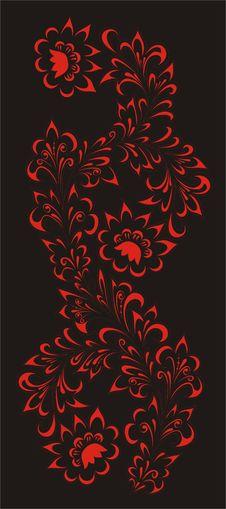 Free Hohloma,stylized Paintings Royalty Free Stock Photos - 6666878