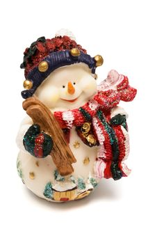 Free Figurine Of A Snowman Stock Photography - 6666962