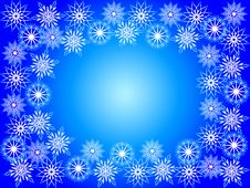Free Frame From Snowflakes Royalty Free Stock Photography - 6667047