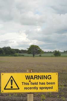 Free Agriculture Warning Sign Stock Photo - 6667250