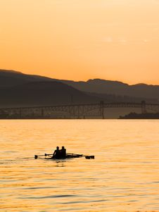 Free Early Morning Rowing. Royalty Free Stock Photo - 6667265